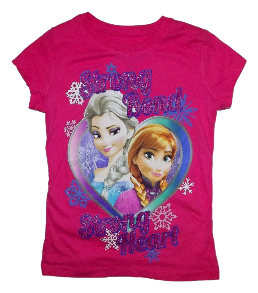 Disney Frozen Sisters Strong Bond Strong Heart Child T-Shirt