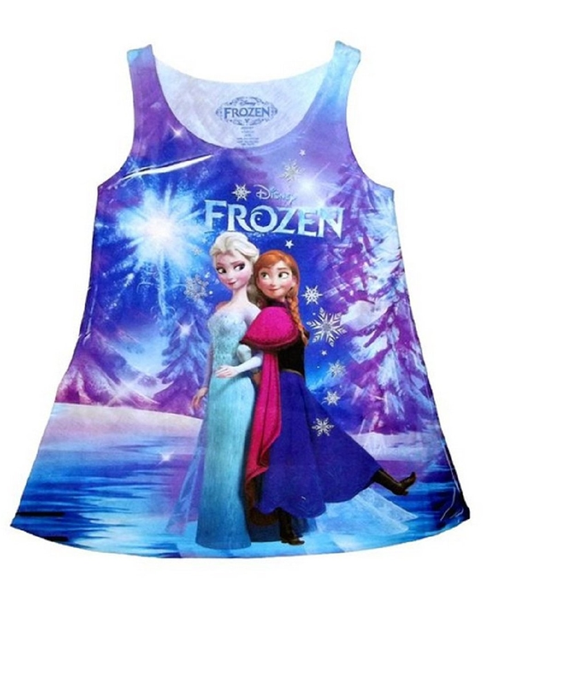 Disney Frozen Elsa & Anna Night Tank Child Dress