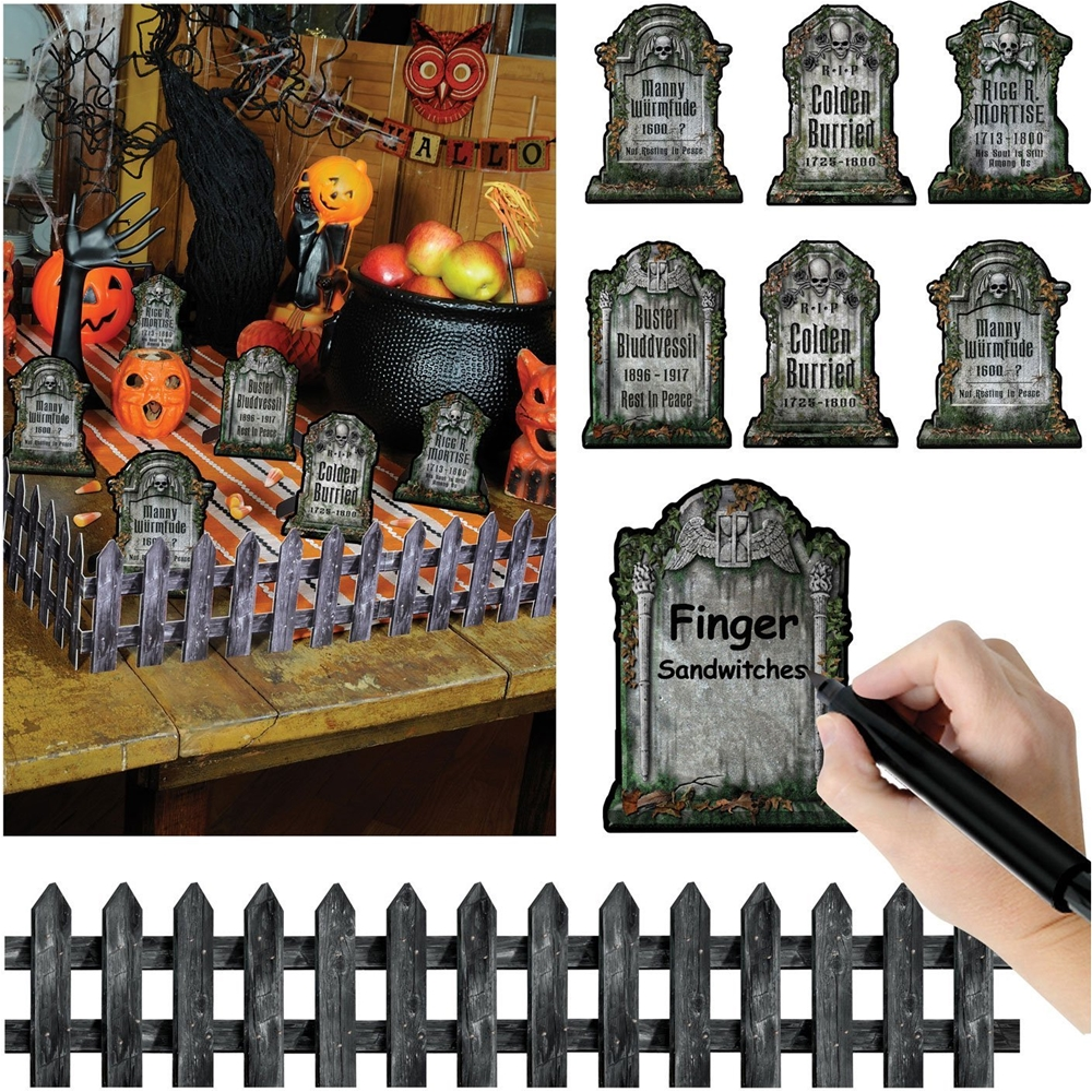 Graveyard Tabletop Cutout Decorations