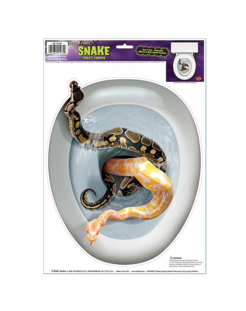 Snake Peel & Place Toilet Topper