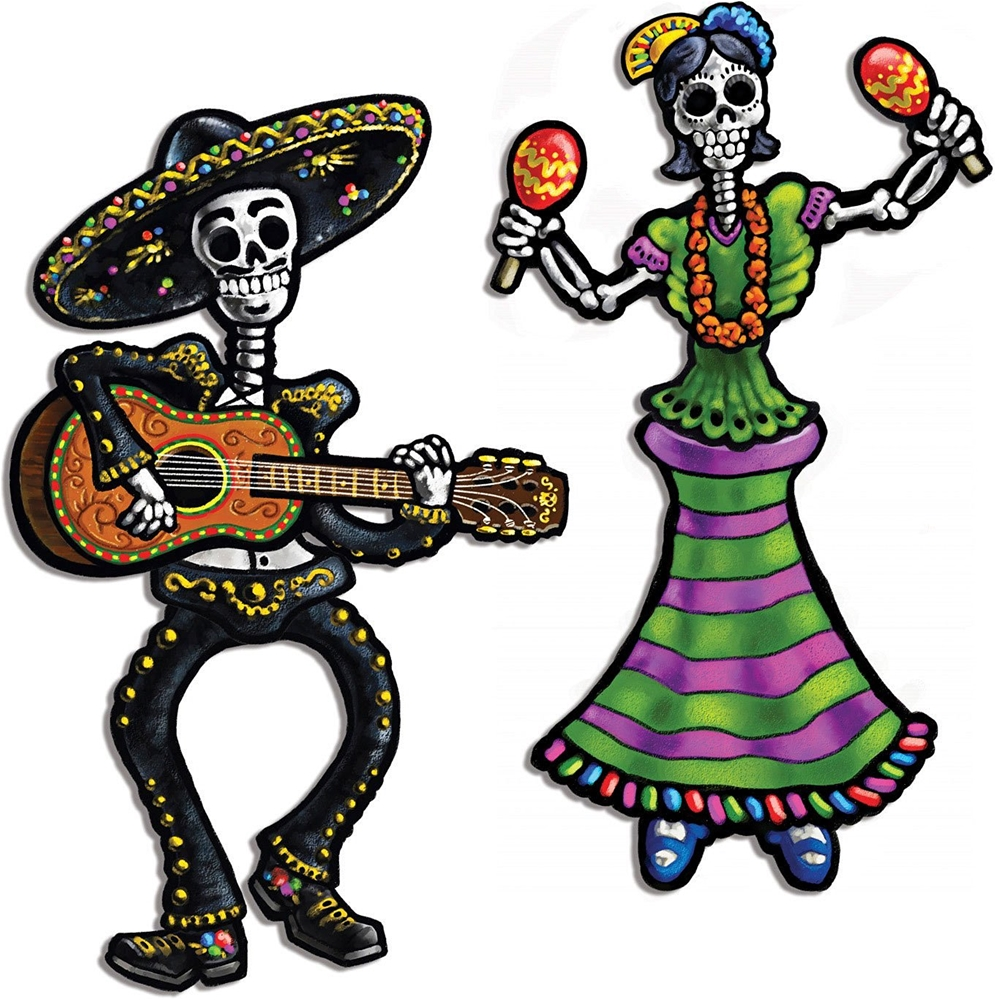 Day of the Dead Skeleton Jointed Cutouts 2ct