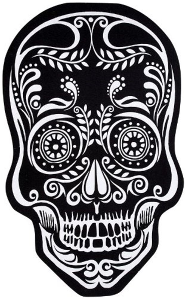 Black & White Skull Doormat