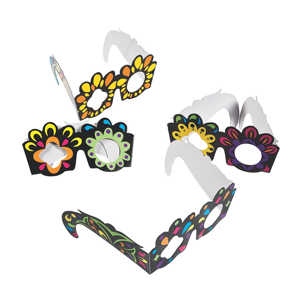 Day of the Dead Paper Glasses 12ct