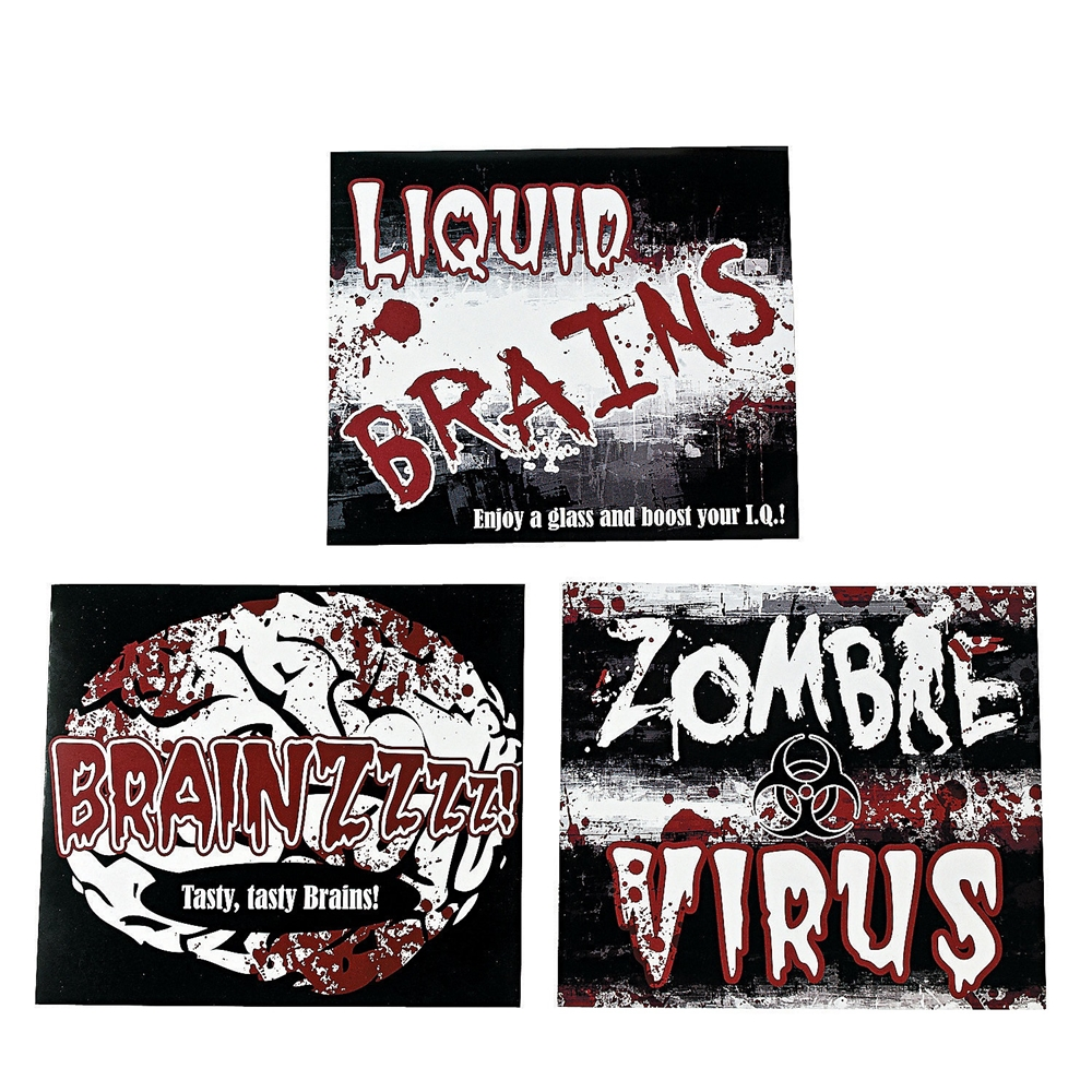 Dead Zombie Bottle Labels