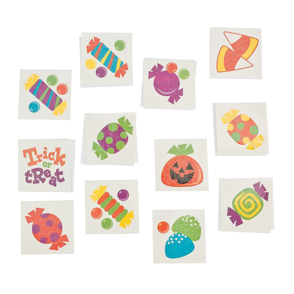 Trick or Treat Paper Tattoos