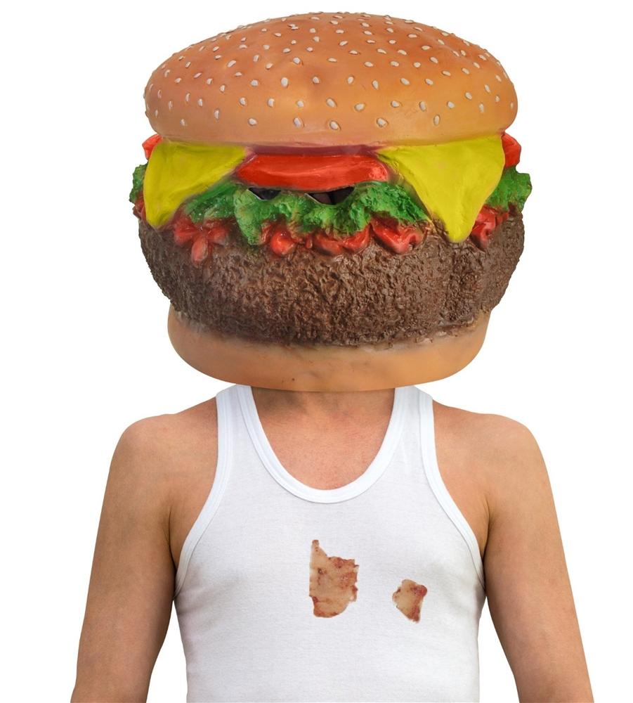Cheeseburger Head Mask