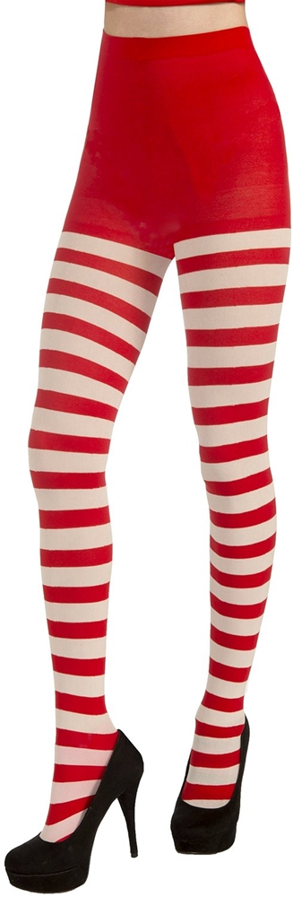 Christmas Striped Adult Tights (Adult Christmas)