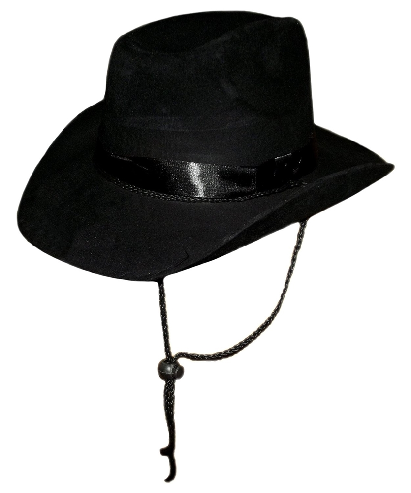 Black Felt Cowboy Hat by China Products Corp