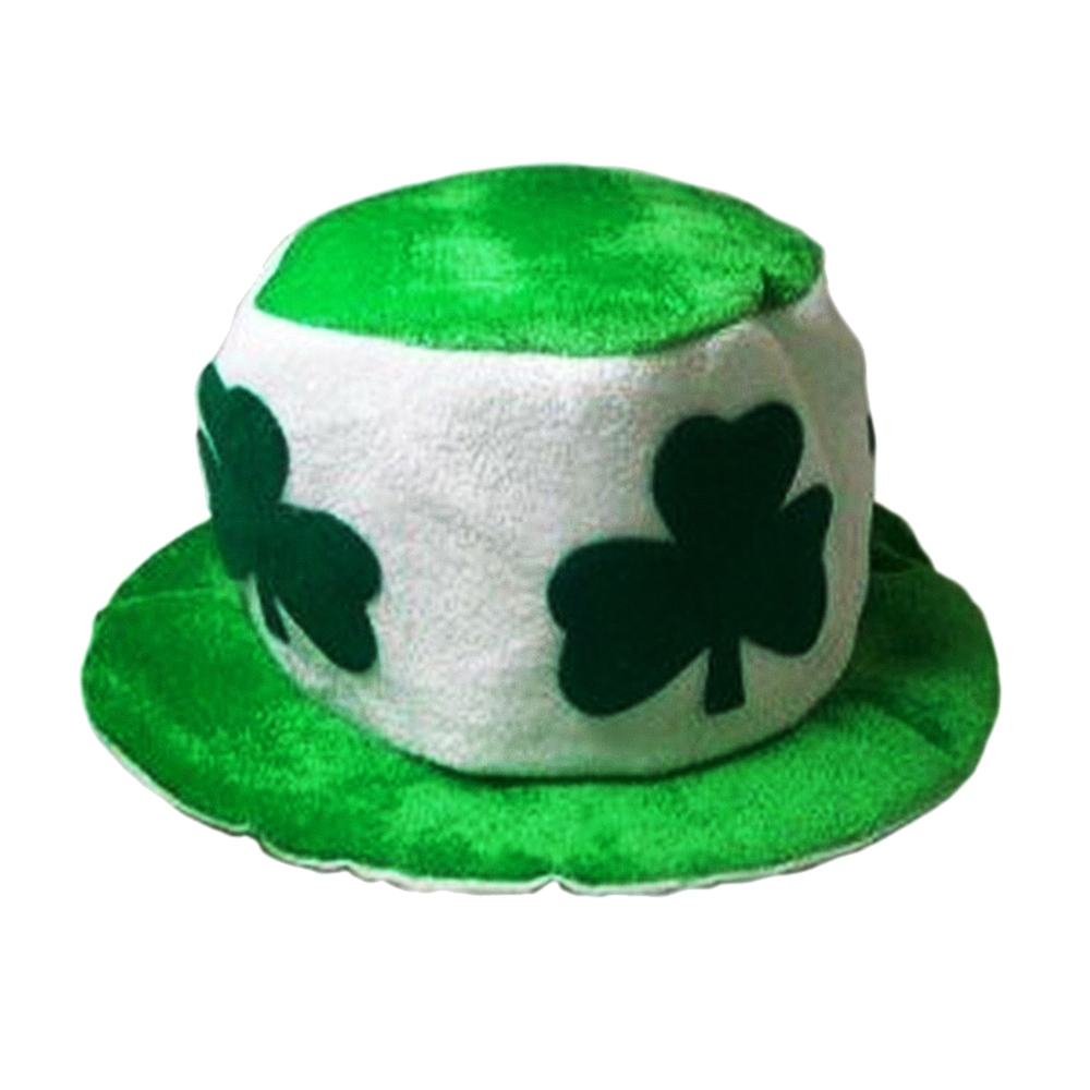 St. Patricks Green & White Clover Hat