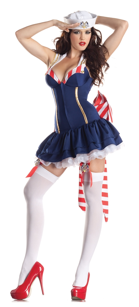 Pin-Up Sailor Body Shaper Adult Womens Costume