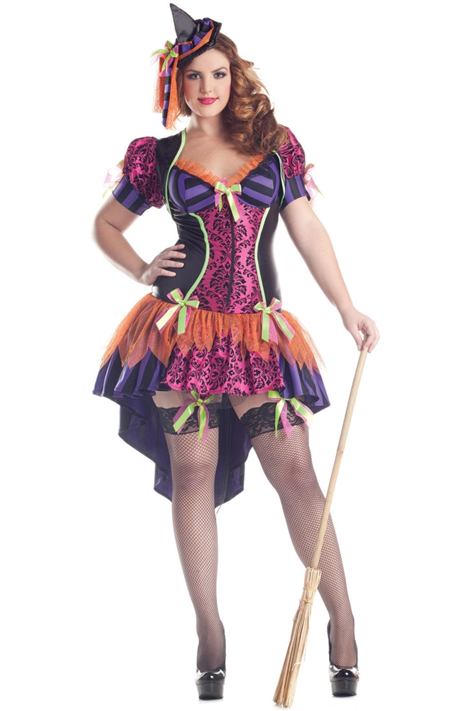 Witch Body Shaper Adult Womens Plus Size Costume