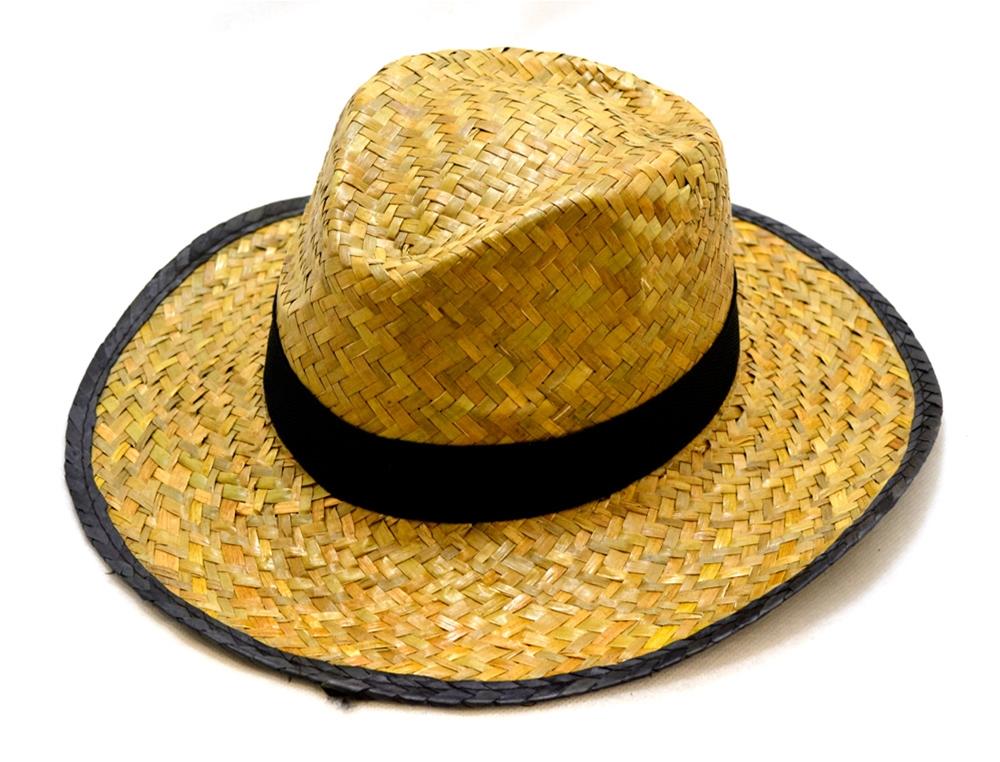 Straw Cowboy Fedora Hat