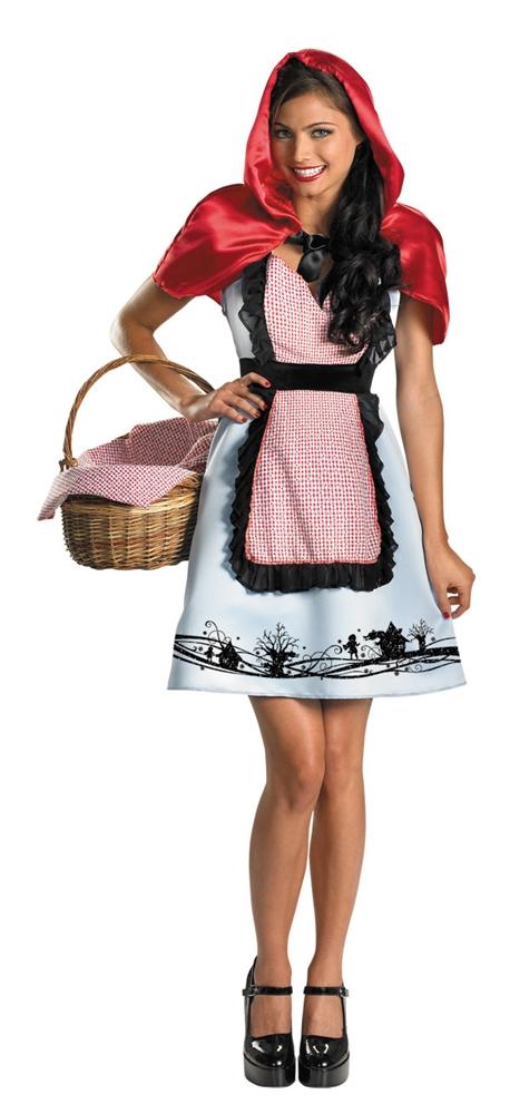 Fairytale Riding Hood Adult Womens Costume