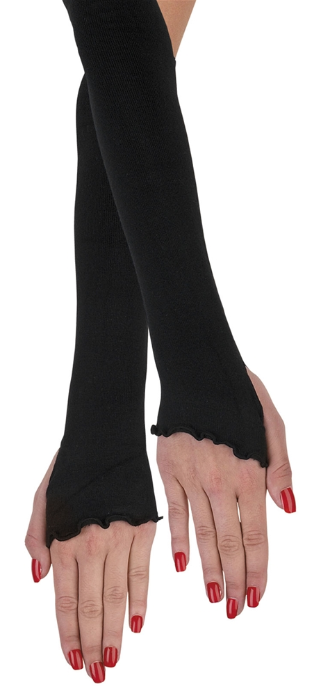 Black Sock Adult Glovettes by Disguise