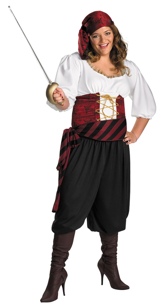 First Mate Pirate Adult Womens Plus Size Costume