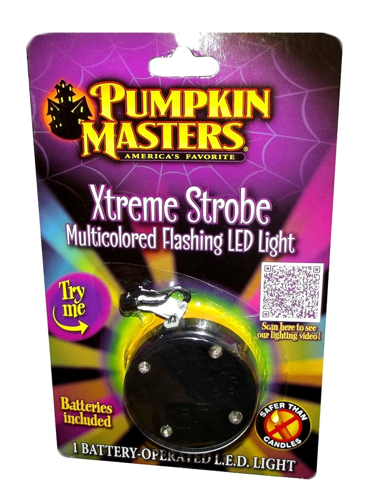 Xtreme Strobe Multicolored LED Pumpkin Light