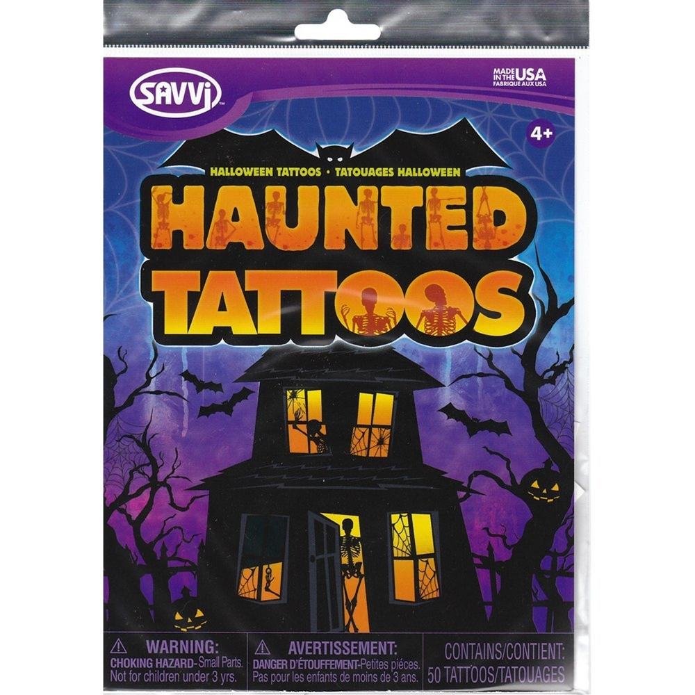 Haunted Temporary Tattoos 50ct