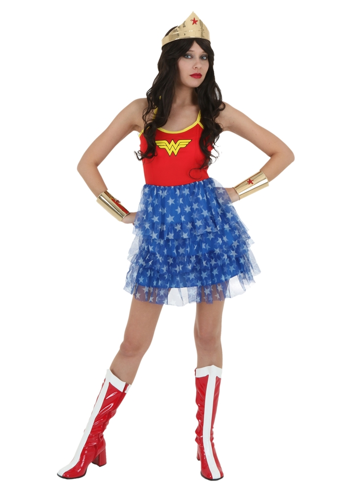 Wonder Woman Adult Womens Tutu Skirt Dress