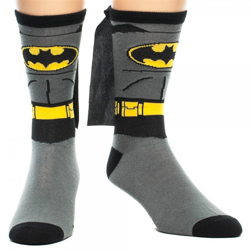Batman Suit Up Cape Socks