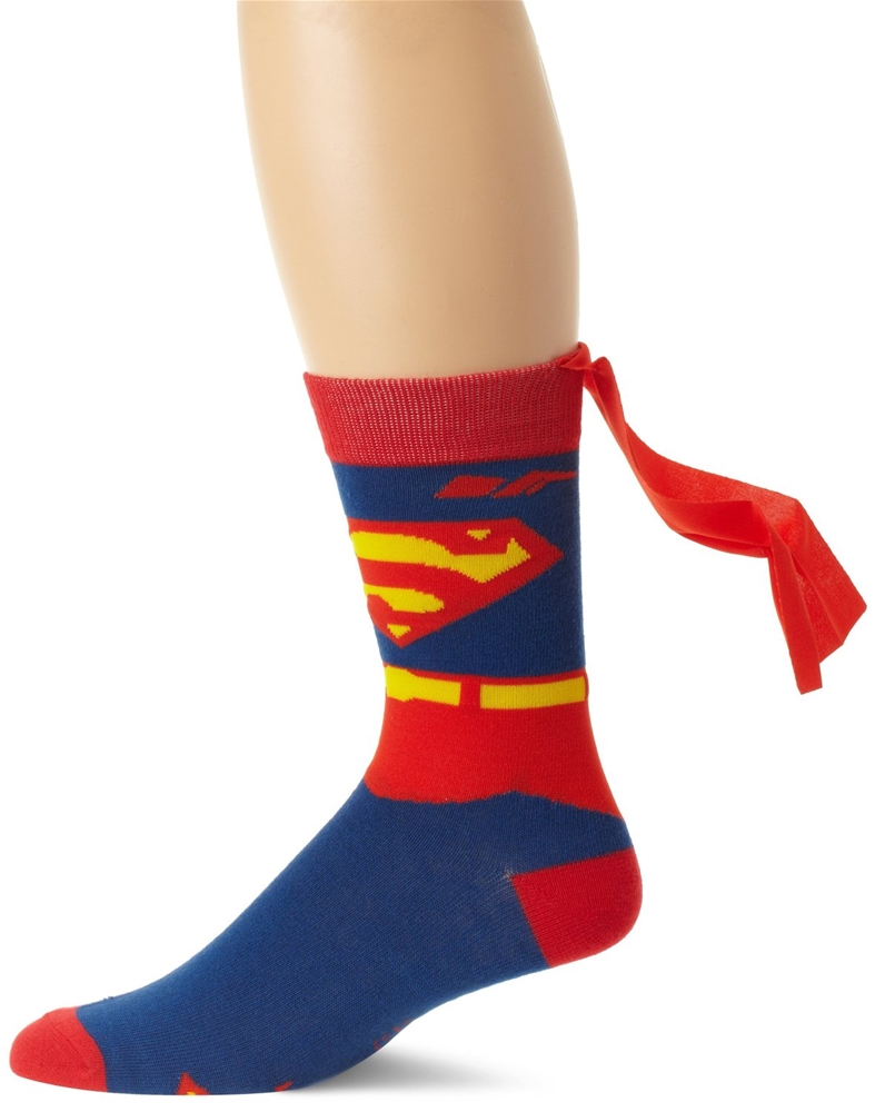Superman Suit Up Cape Socks