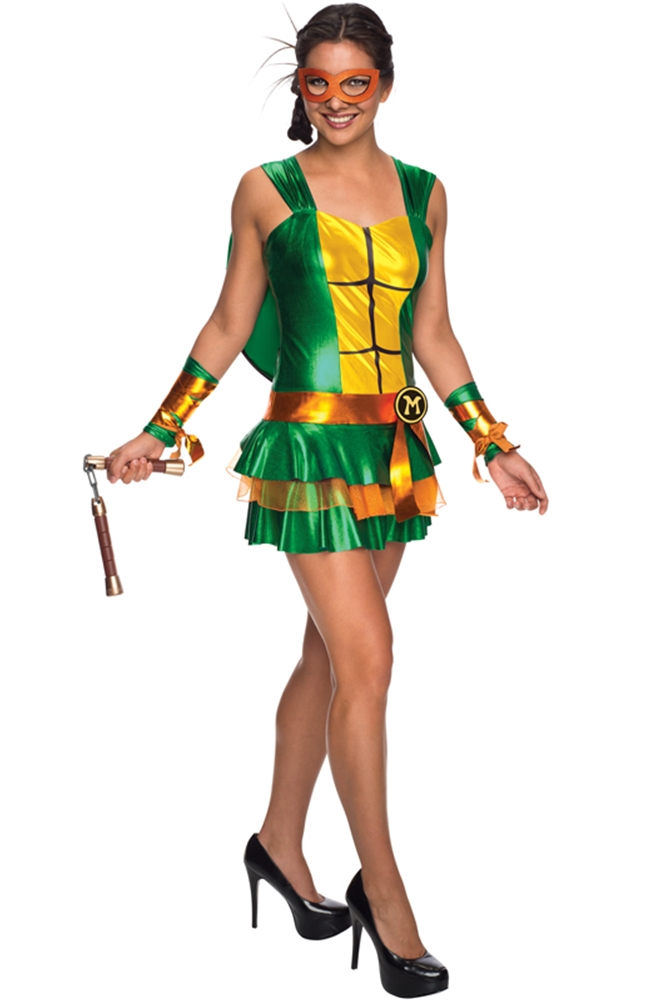 TMNT Michelangelo Dress Adult Womens Costume by Rubies