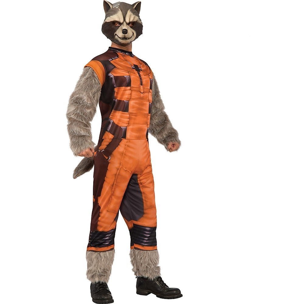 Rocket Raccoon Deluxe Adult Mens Costume by Rubies
