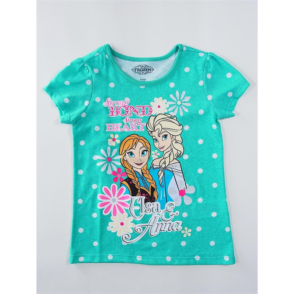 Disney Frozen Elsa & Anna Aqua Child T-Shirt