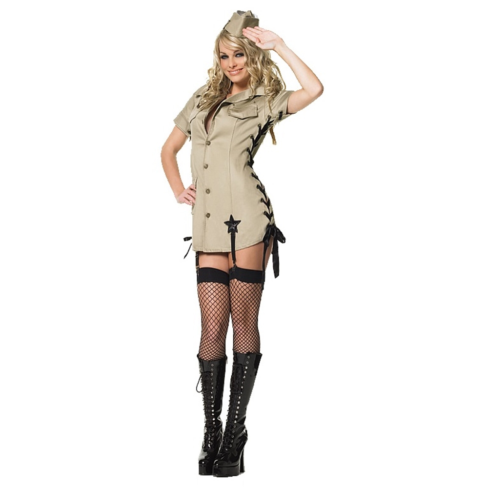 Pin-Up Army Girl Adult Womens Costume