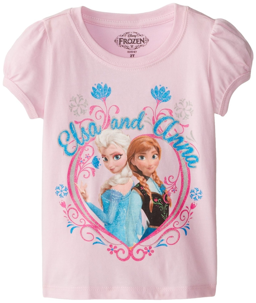 Disney Frozen Elsa and Anna Pink Toddler T-Shirt