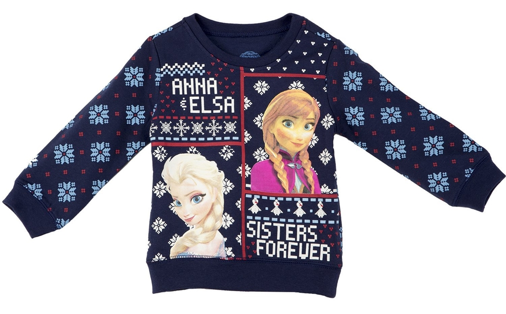Disney Frozen Sisters Fleece Toddler Sweater