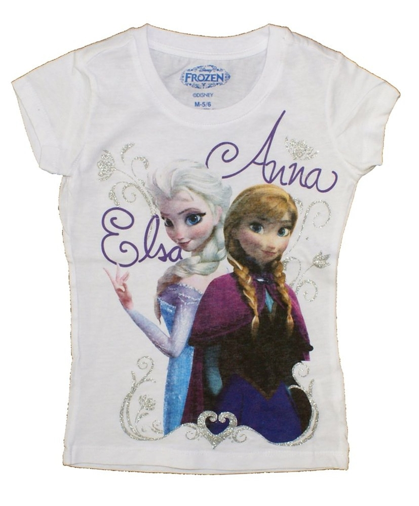 Disney Frozen Elsa & Anna White Toddler T-Shirt