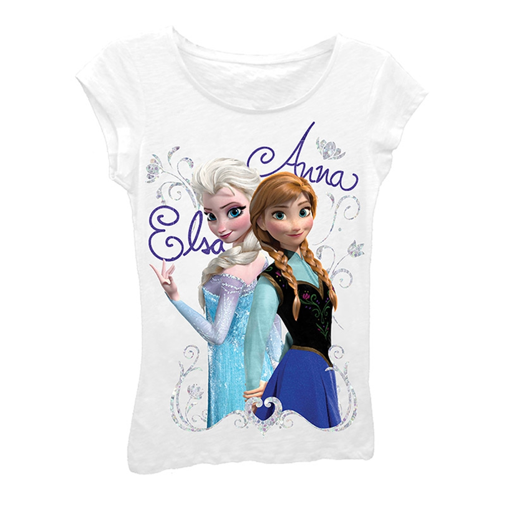 Disney Frozen Elsa & Anna White Child T-Shirt