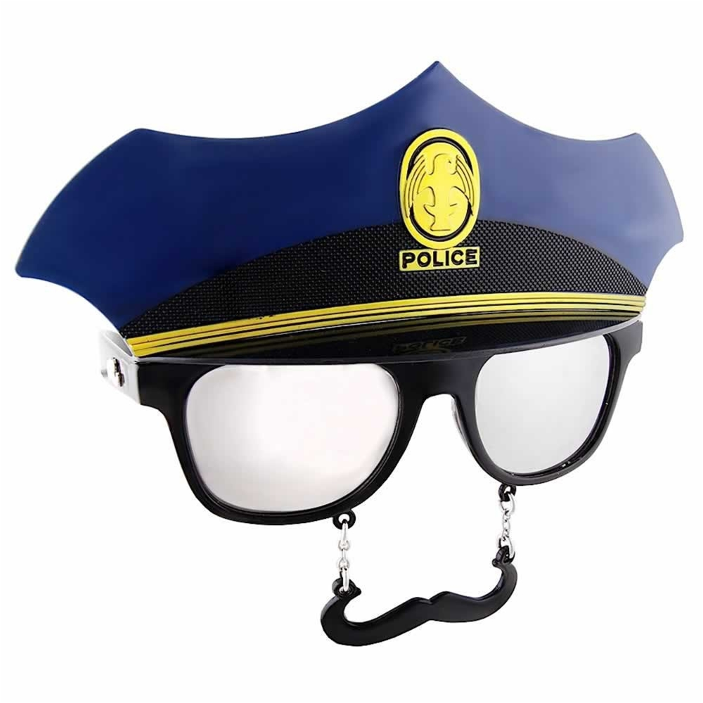 Police Officer Sunglasses with Mustache