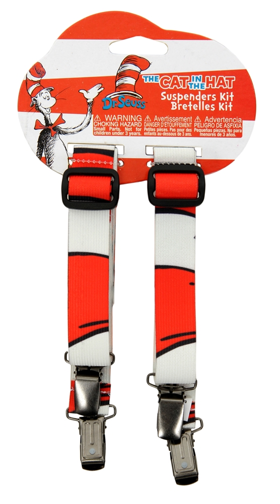 Dr. Seuss Cat in the Hat Striped Suspenders