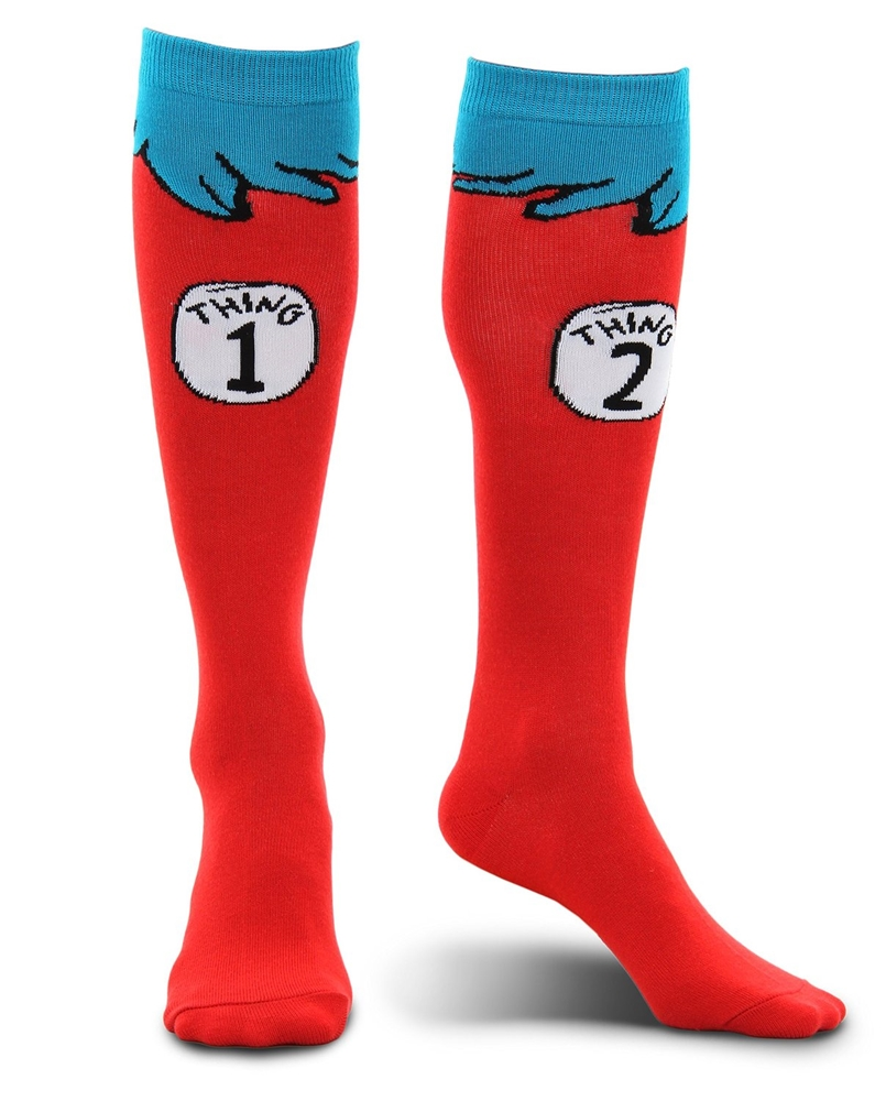 Dr. Seuss Thing 1&2 Adult Unisex Socks