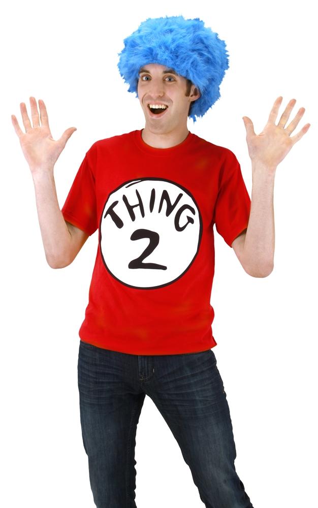 Dr. Seuss Thing 2 Adult Mens T-Shirt Kit