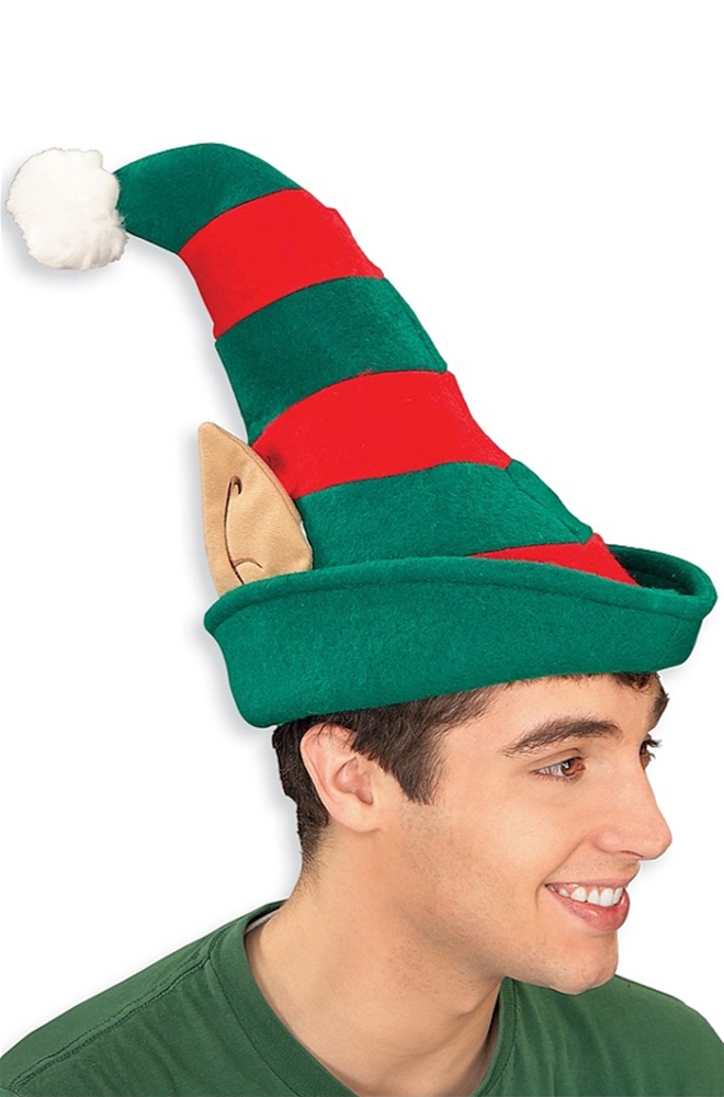 Striped Elf Hat with Ears