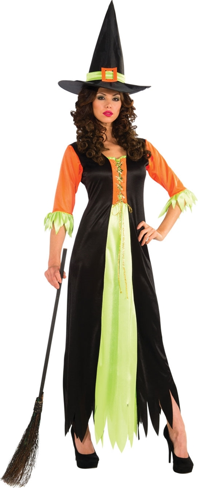 Orange & Green Witch Adult Womens Costume