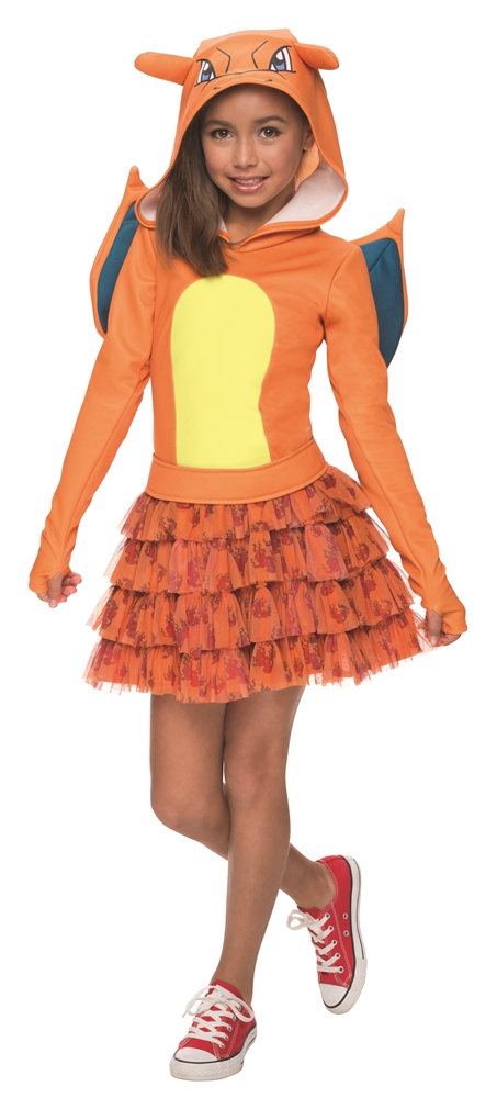 Pokemon Charizard Hooded Dress Child Costume