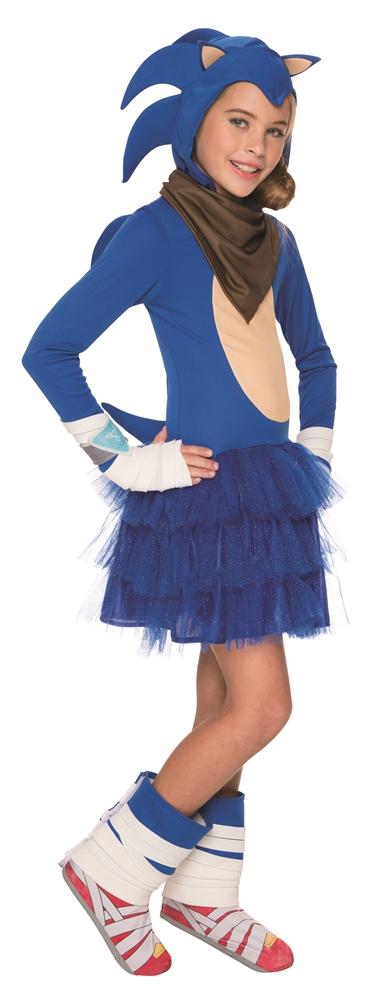 Sonic the Hedgehog Hooded Dress Child Costume (Hood Dress)