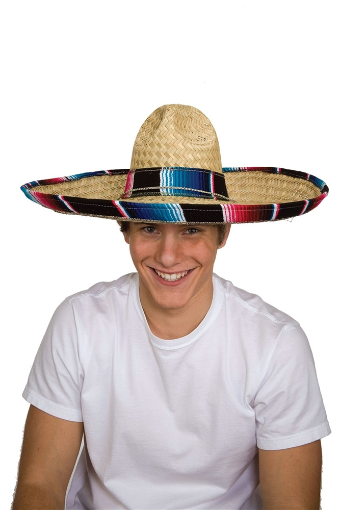 Sombrero Hat with Serape Band