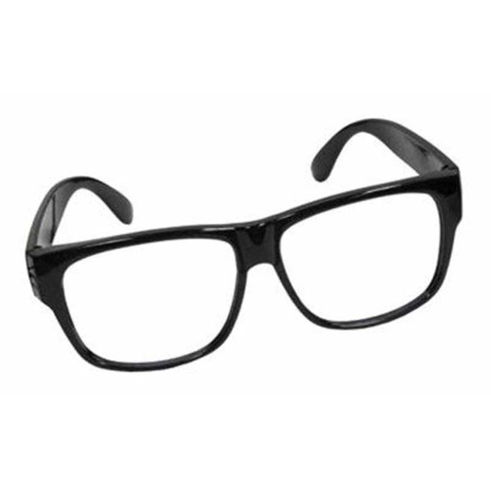 Black Framed Glasses with No Lenses by Jacobson Hat Co