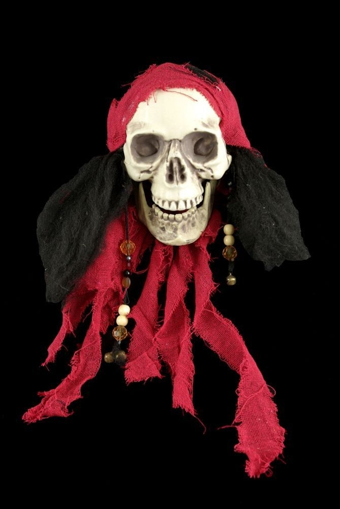 Life-Sized Captain Jack Pirate Head by Skeleton Store