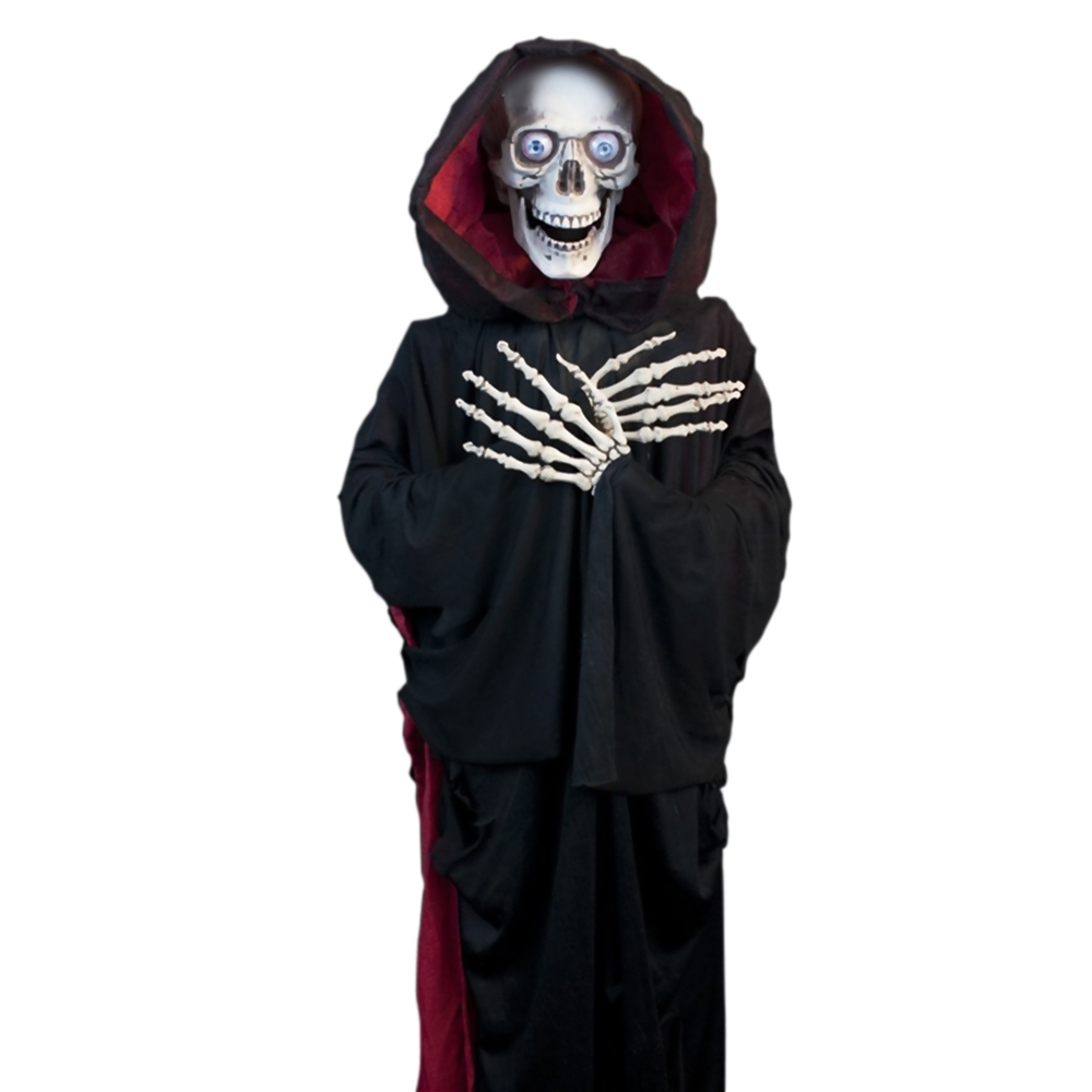 Red & Black Hooded Ghastly Reaper Prop 58in
