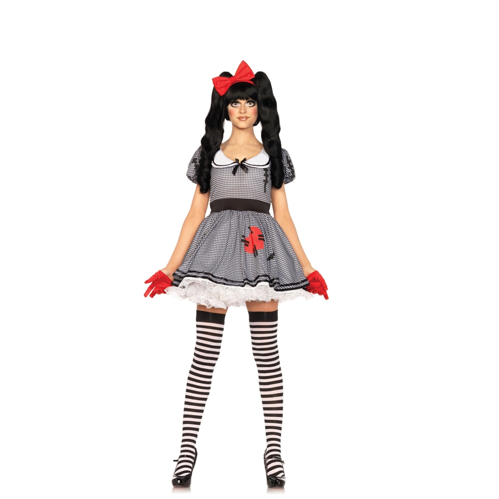 Wind-Me-Up Dolly Adult Womens Costume