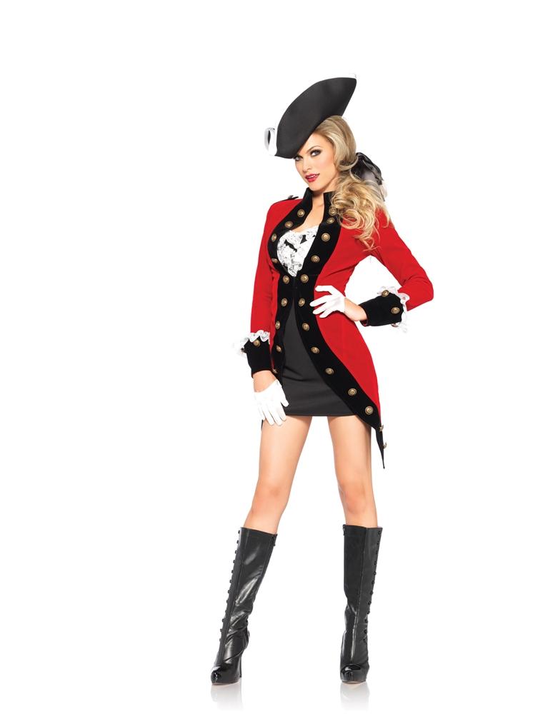 Rebel Red Coat Adult Womens Costume by Leg Avenue