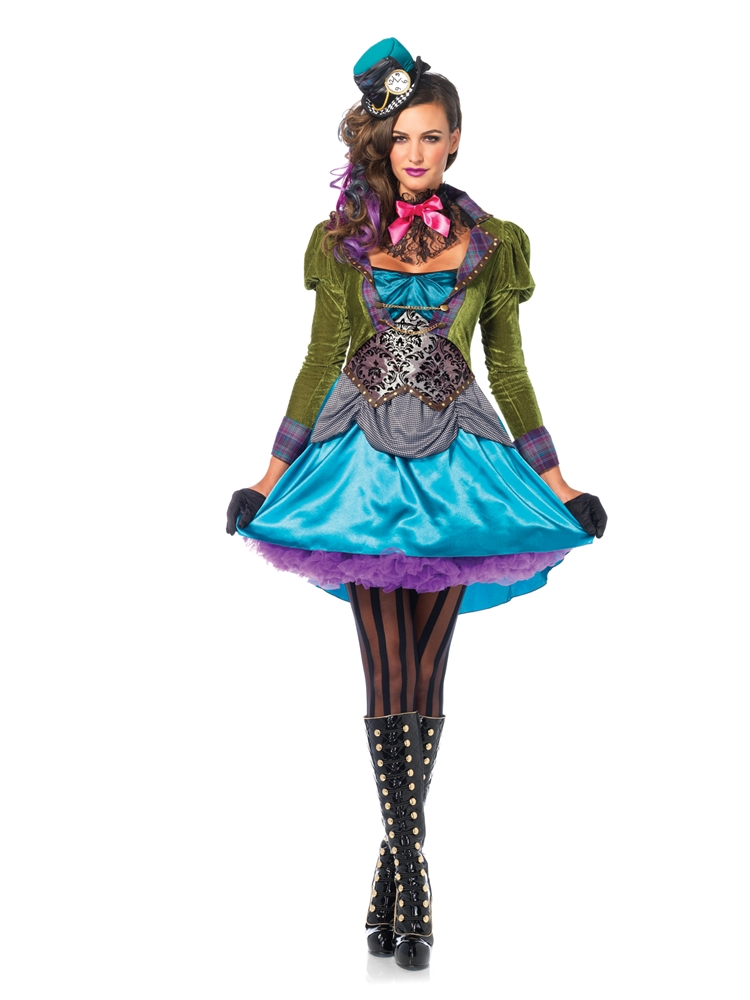 [Stylish Mad Hatter Deluxe Adult Womens Costume] (Deluxe Adult Womens Costumes)