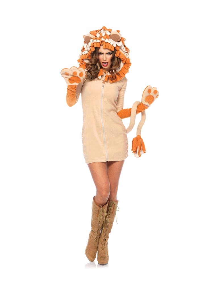 Cozy Lion Dress Adult Womens Costume