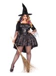 Black Magic Mistress Adult Womens Plus Size Costume