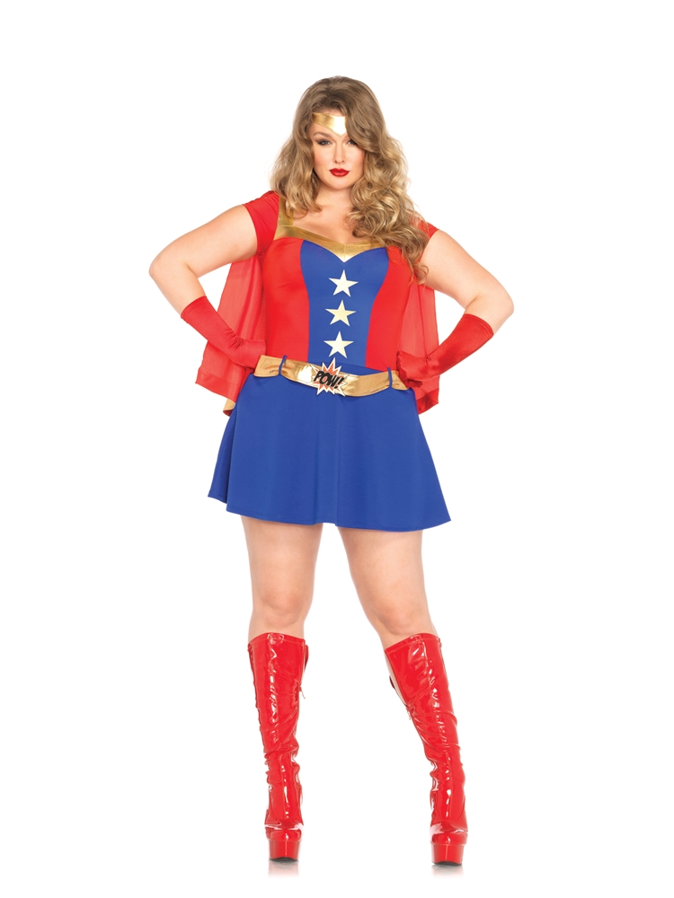[Comic Book Girl Adult Womens Plus Size Costume] (Comic Book Costumes Girls)